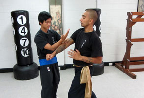 Wing Chun Kung Fu Men training